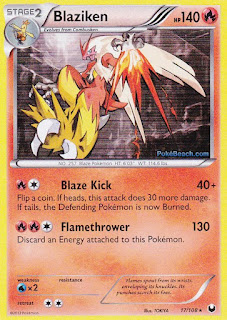 Blaziken Dark Explorers Pokemon Card
