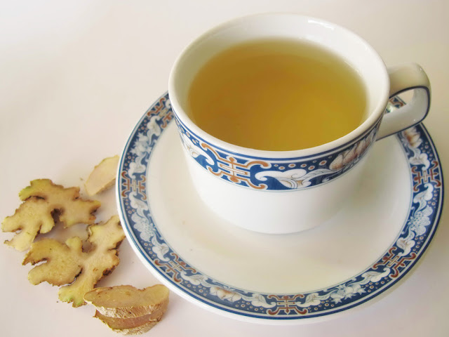 Ginger tea with hot water