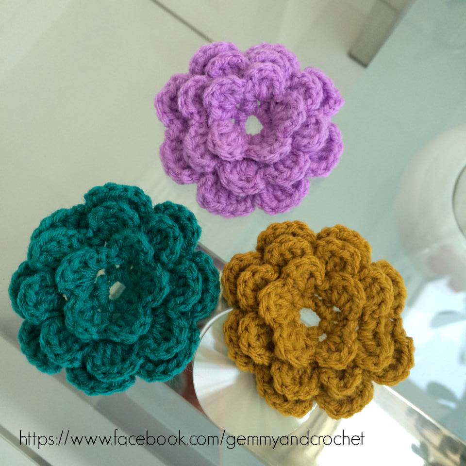 crochet flower, crochet flower accent, flower for embellishment, crochet embellishments