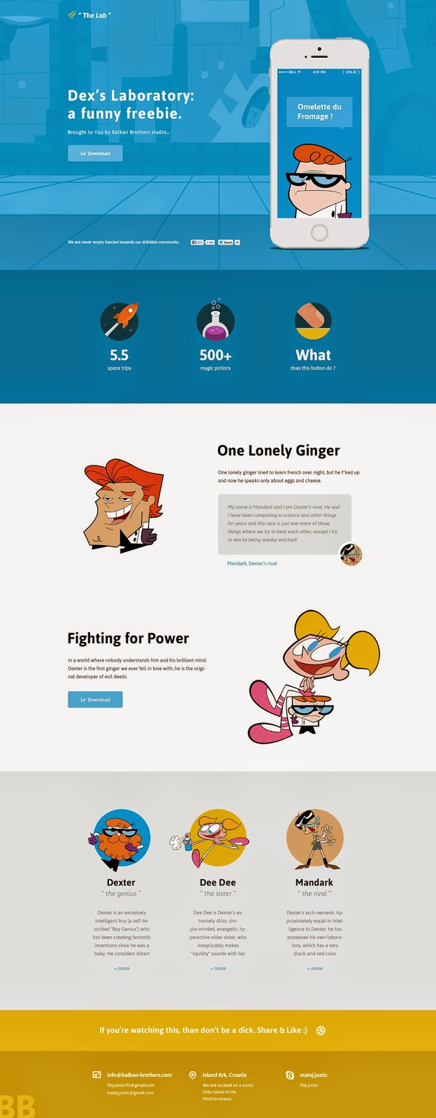 Freebie PSD Website Design