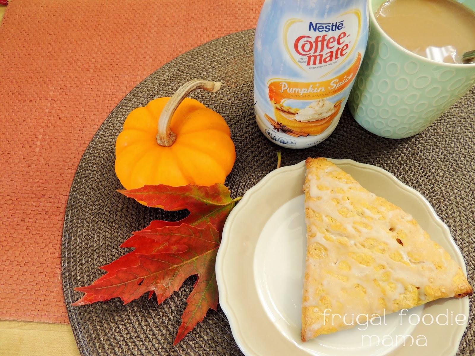 frugal foodie mama pumpkin spice scones with pumpkin spice coffee