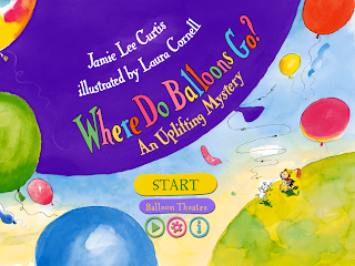 Where Do Balloons Go? iPad App, Menu Options