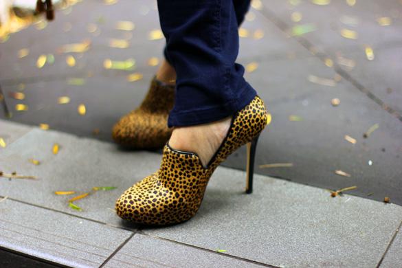 Ann Taylor Leopard Print Booties