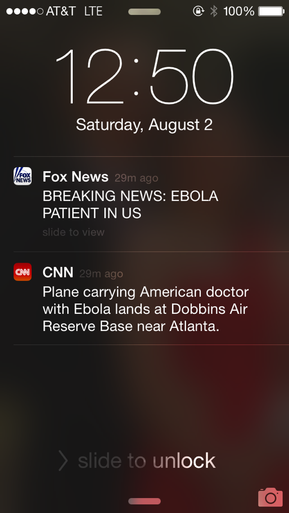 The difference between Fox and CNN on iPhone