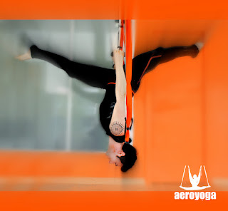 Acrobatic aerial yoga by Rafael Martinez