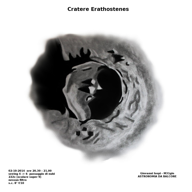 Astronomia da balcone: crateri di una mezza lunazione