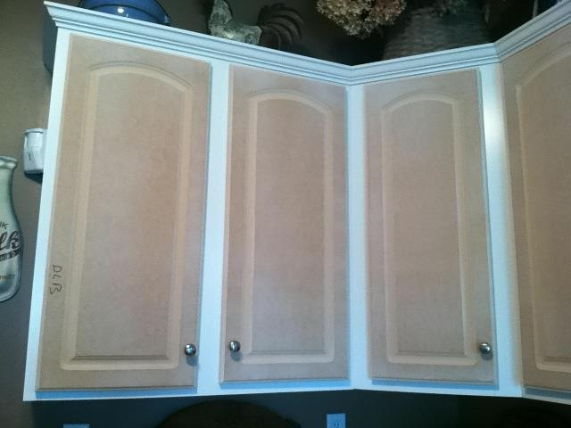 The fabulous food fairy s diy kitchen cabinet for Mdf painted cabinet doors