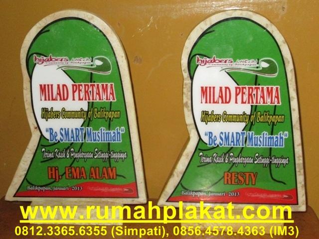 plakat award hijaber, bikin vandel acara, buat plakat marmer murah, 0856.4578.4363, www.rumahplakat.com