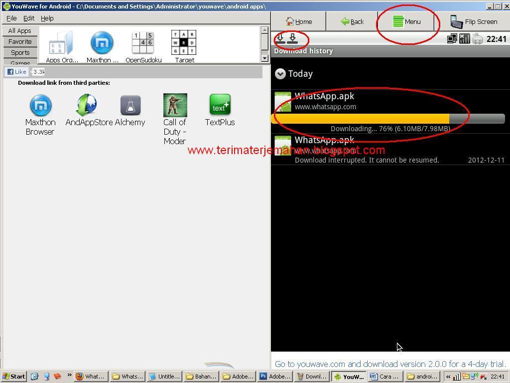 Cara Memasang Whatsapp Di Komputer Win XP 11