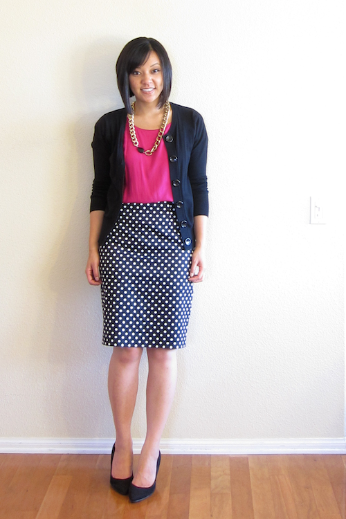 Putting Me Together: How to Wear a Polka Dot Pencil Skirt in Any ...