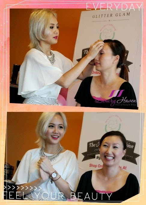 beauty make up demo by marie genevieve teo