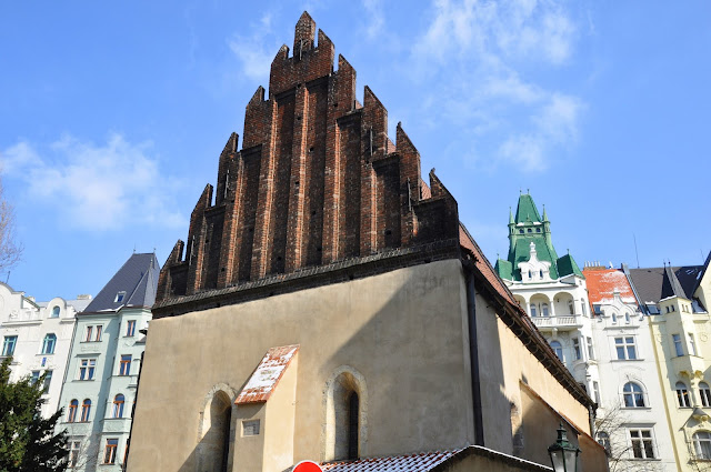 The Old-New Synagogue in the Jewish Quarter, Prague, Czech Republic
