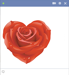 Heart-shaped rose - Facebook emoticon