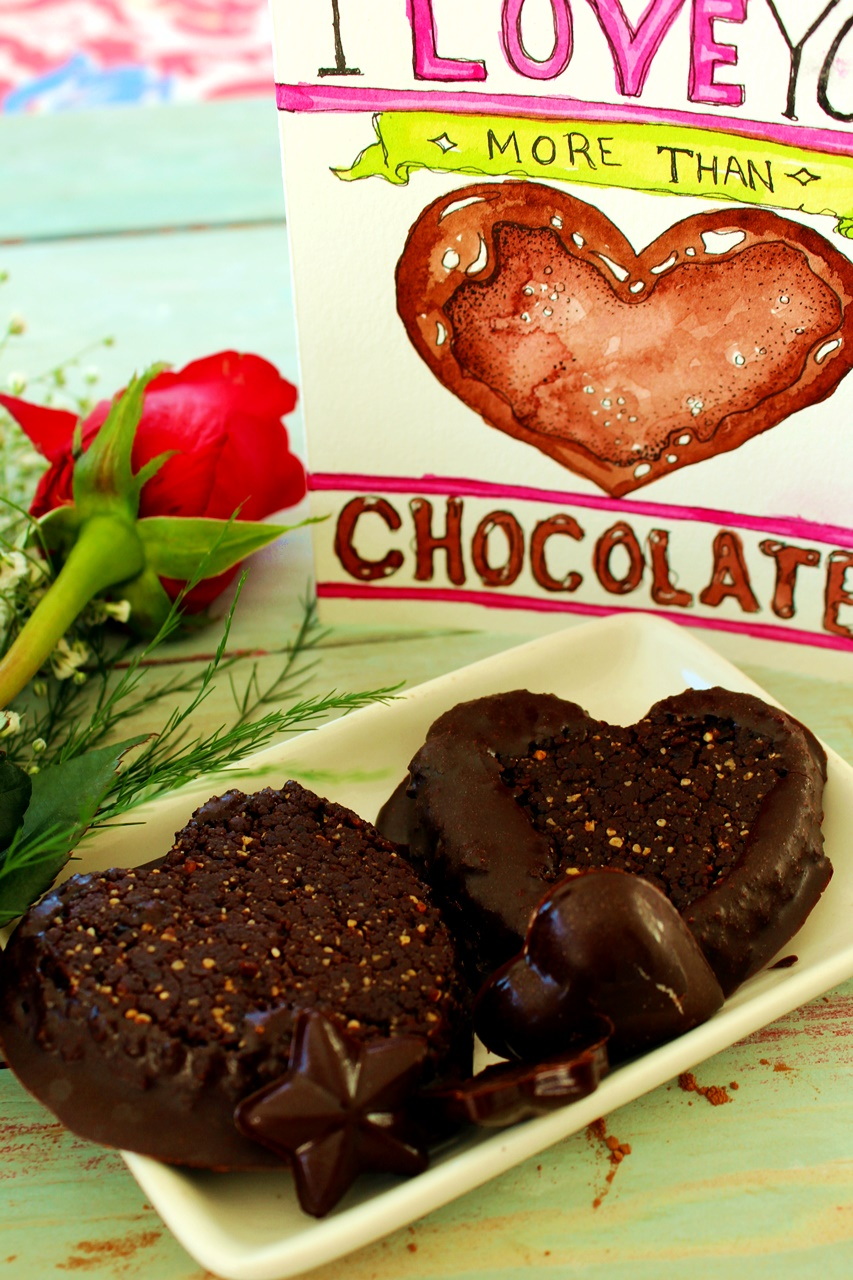 Eurasian food dessert recipes eurasian food dessert recipe chocolate cherry dipped brownie hearts raw food dessert recipe for valentines or any other day forumfinder Choice Image