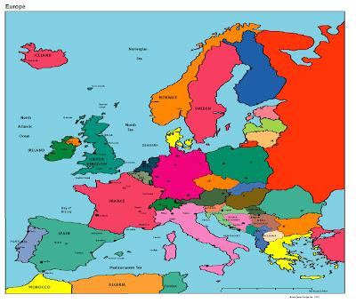 Europe Stadtplan Bilder