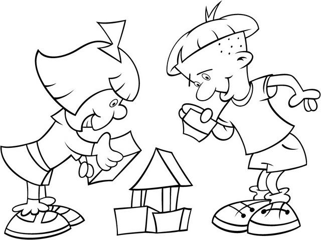 Dibujos de trabajo en equipo para colorear - Imagui