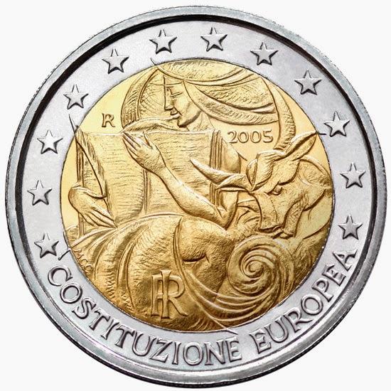 2 euro Italy 2005, European Constitution