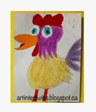 Picasso Pastel Roosters