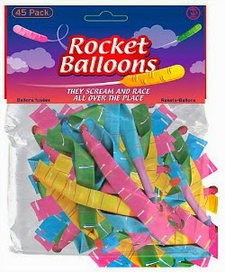 A packet of rocket balloons