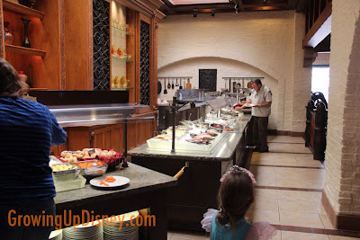 cold buffet at Akershus in Epcot