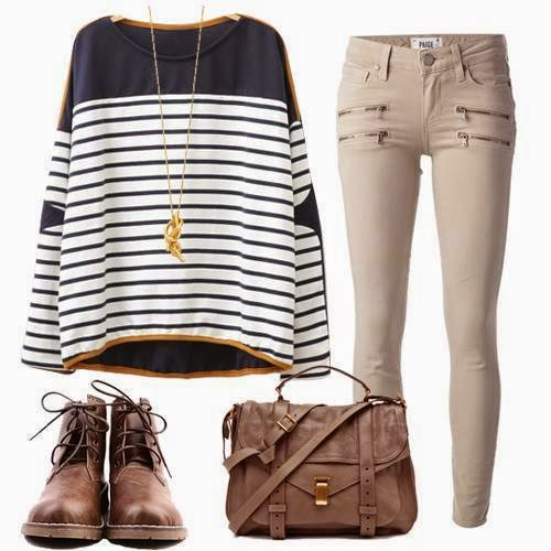 Stripes are stylish in every season!!