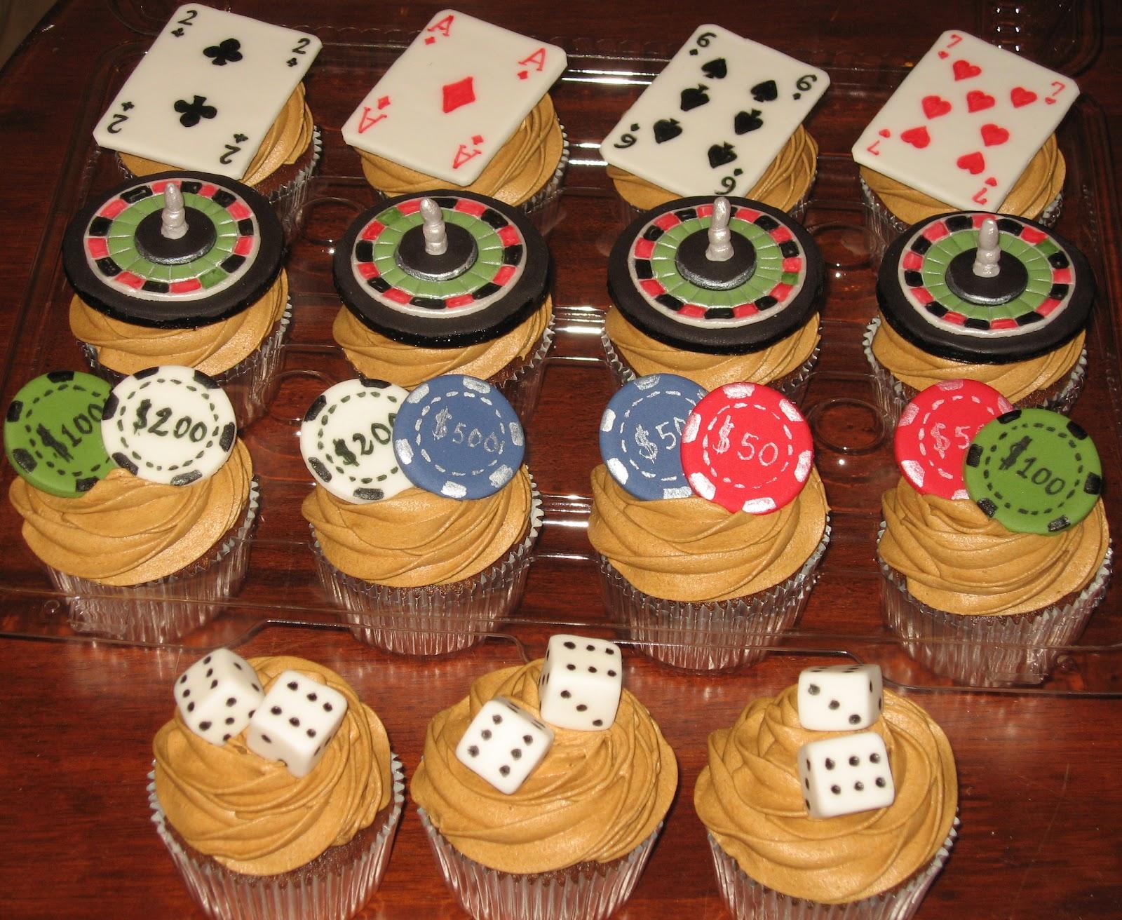 Casino Las Vegas Themed Cake Cup Cakes