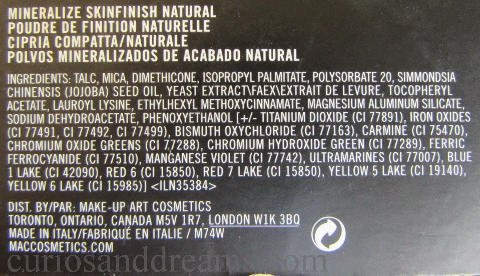 MAC Mineralize Skinfinsh Natural, MAC Mineralize Skinfinsh Natural review, MAC Mineralize Skinfinsh Natural medium dark