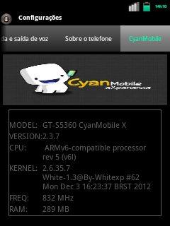 CyanMobile eXperience V 0.5 custom Rom