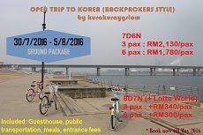 Open Trip to Korea
