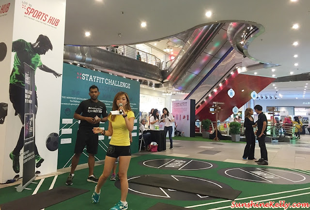 Stay Fit Challenge, StayFit Challenge, Lot 10 Kuala Lumpur, Lot 10 Sports Hub, 1st Anniversary Celebration, Bungee Run, Sit up Challenge, Push Up Challenge, Planking Challenge, Raje Freestyler, Football clinic