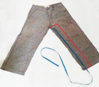 cara mengukur inseam celana panjang