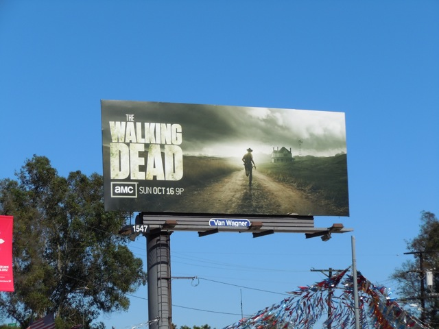Walking Dead season 2 TV billboard