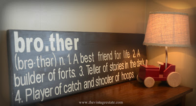 Pottery Barn Knockoff Sibling Plaque tutorial