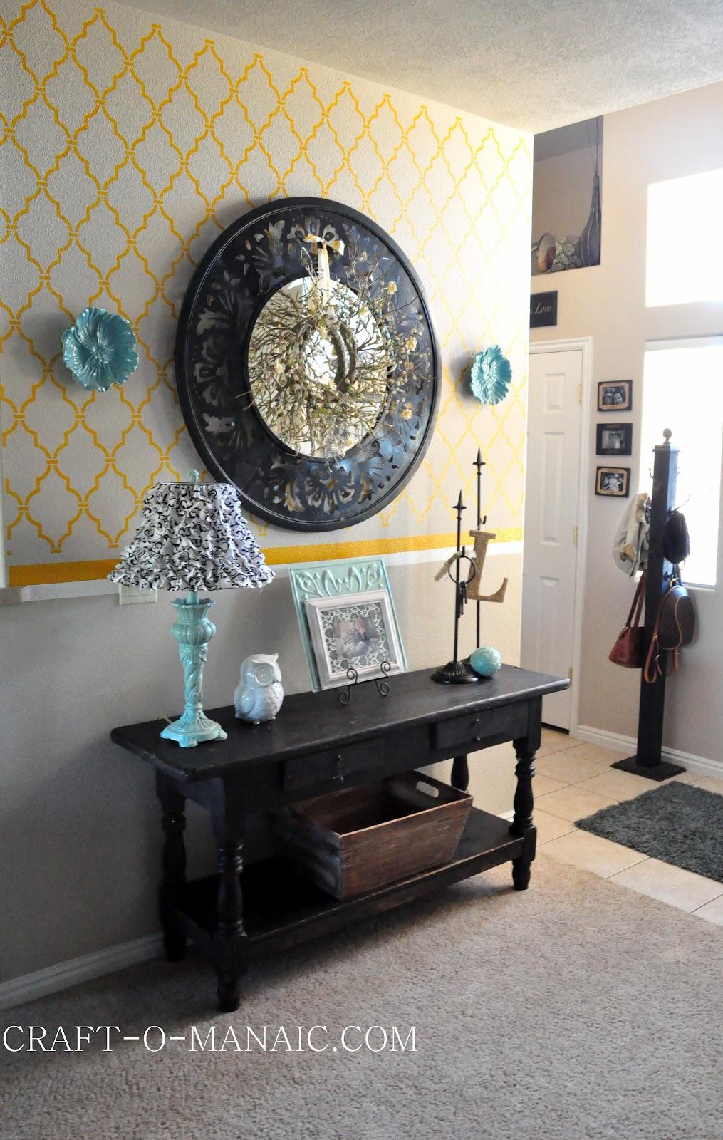 Foyer Table Craigslist : Home decor new entry table from craigslist craft o maniac