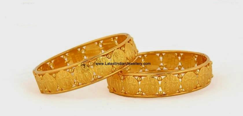 Lakshmi Kasu Design Gold Bangles