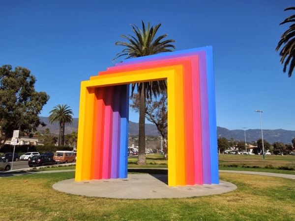 Santa Barbara Chromatic Gate sculpture