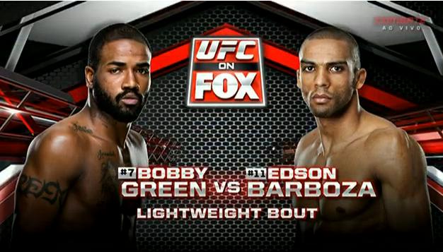 Horário da luta Edson Barboza vs Bobby Green - UFC 22/11/2014