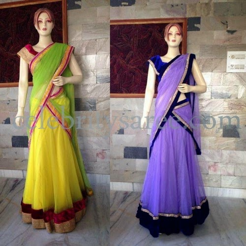 Colorful Plain Silk Sarees