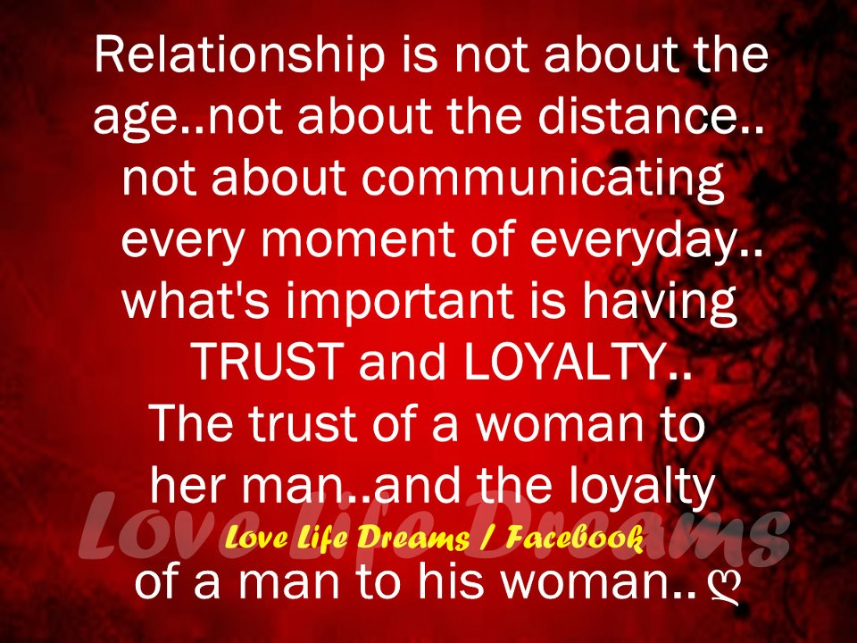 What is important in a relationship to a man