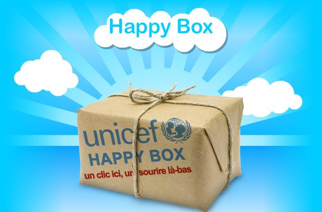 Happy Box, bonne action, Unicef, vaccins, matériel, enfants, monde, aide, cosmeto factory