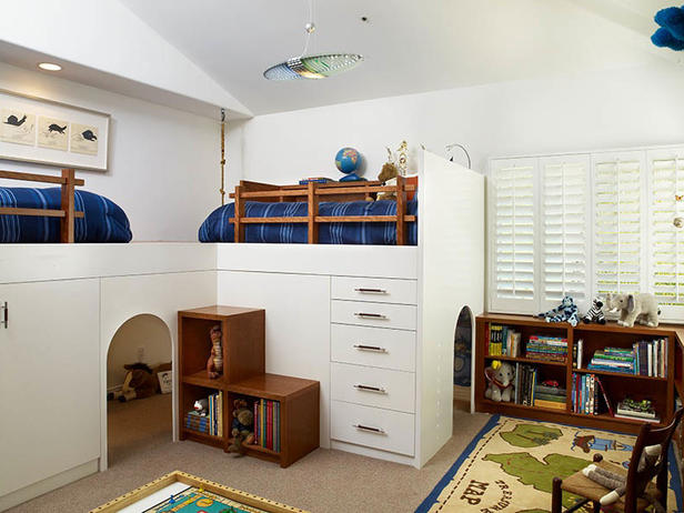 Kids Loft Beds with Room Underneath
