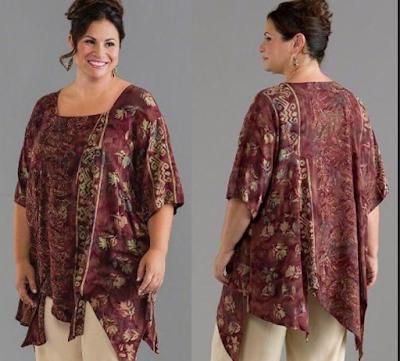Model Baju Batik Kerja Untuk Wanita Gemuk