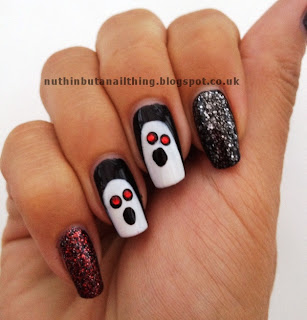 halloween nail art ghost nails