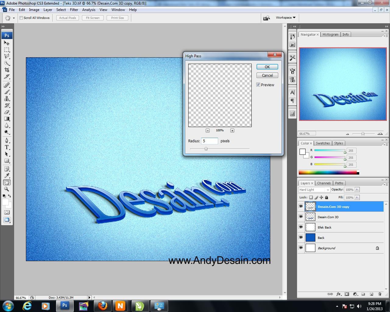 Cara Termudah Membuat Teks 3D | Tutorial Photoshop