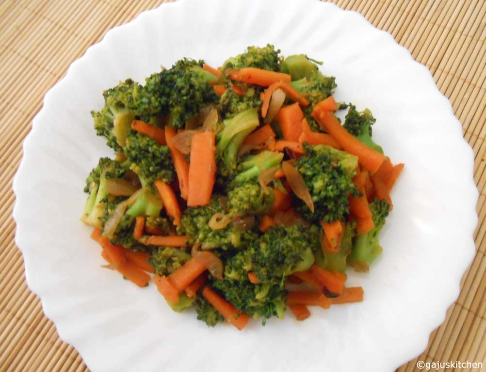 Broccoli carrot Stir fry