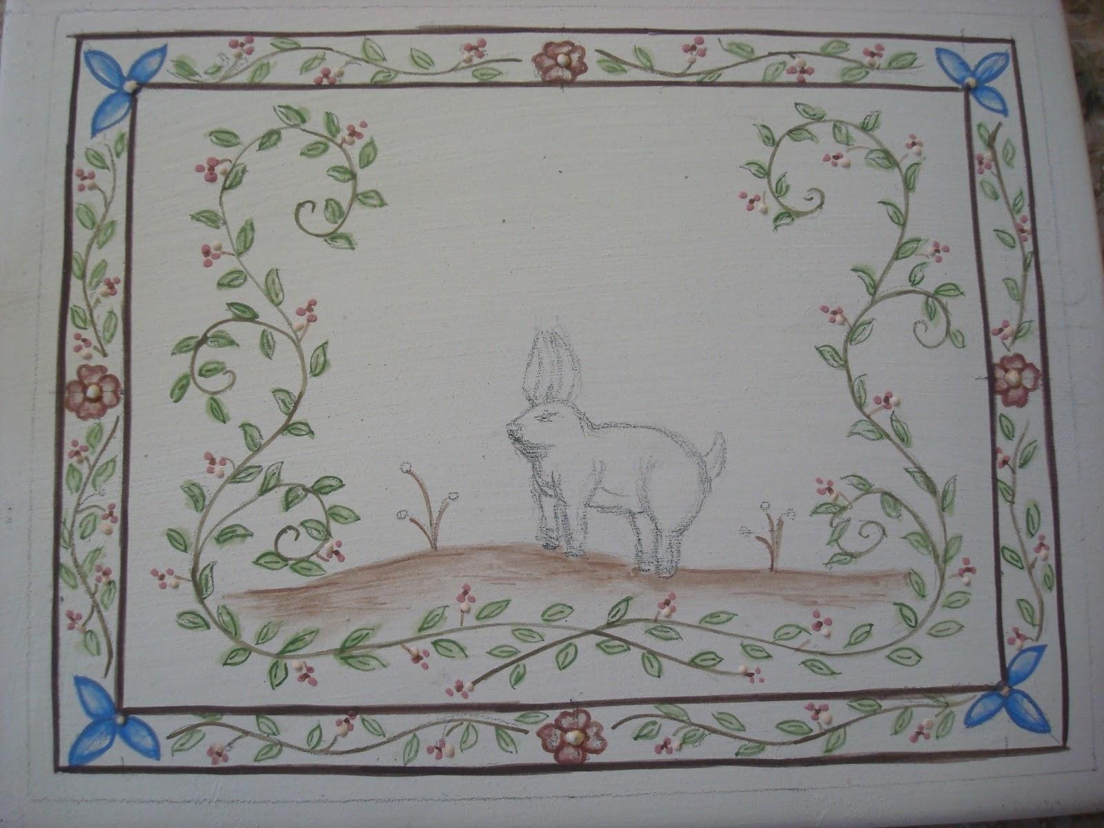 Pinturas da Yara: Para decorar a sua varanda ou jardim de inverno!!! #2F4B75 1600x1200 Banheiro Azulejo Ou Pintura