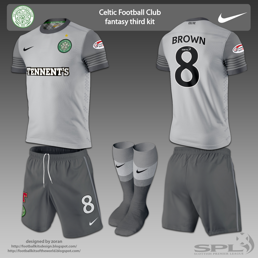 football kits design: Celtic Football Club fantasy kits