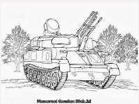 Gambar Mobil Tank Untuk Diwarnai