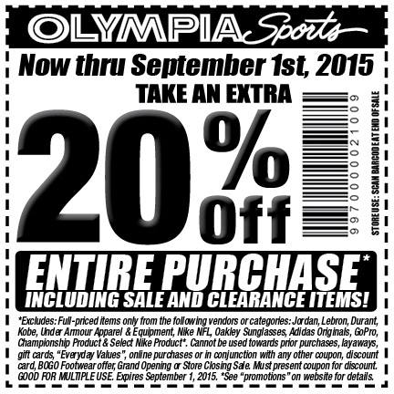 Coupon code olympia sports