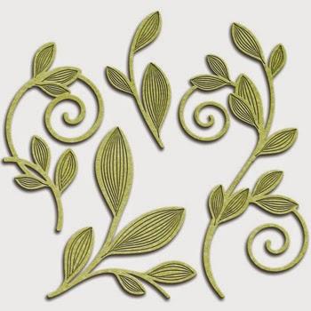 Spellbinders Shapeabilities Victorian Garden Romantic Vines SBS4-531